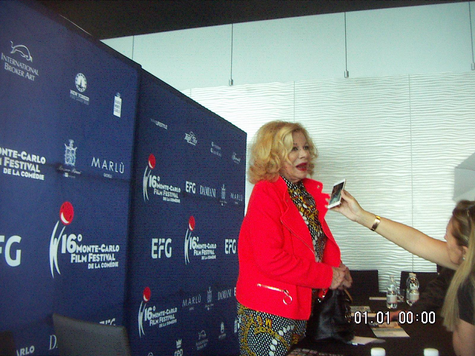 Sandra Milo durant la conférence de presse (c) C. Dehalle
