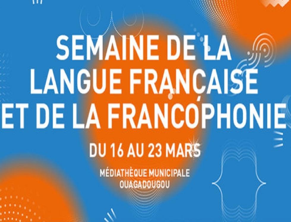 Affiche du programme de la Semaine de la langue francaise et de la francophonie au Burkina. (c) Institut français.