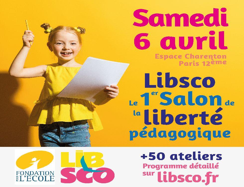 Libsco, le premier salon de la liberté pédagogique se tiendra le 6 avril à Paris. (c) DR.