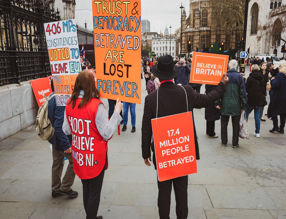 Manifestation en faveur du Brexit, le 29 mars 2019. Photo (c) K.Grieve @Unsplash