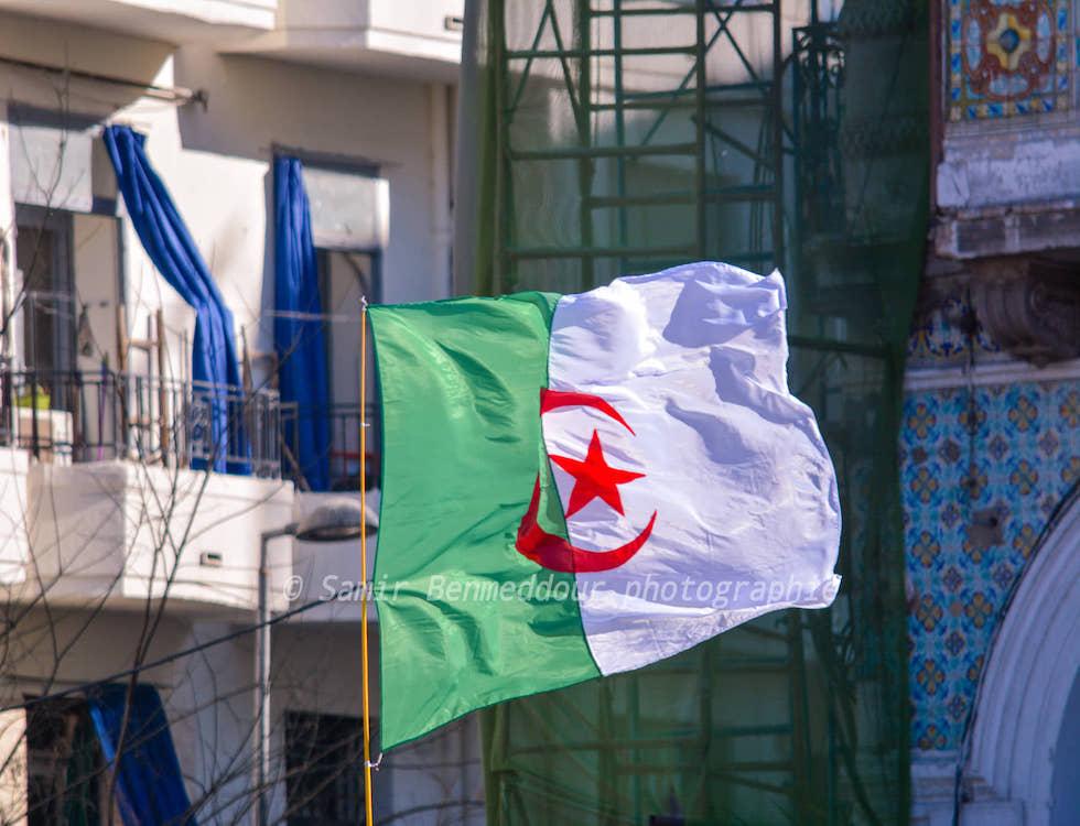 Une Algérie affichant fièrement son drapeau (C) Samir Benmeddour