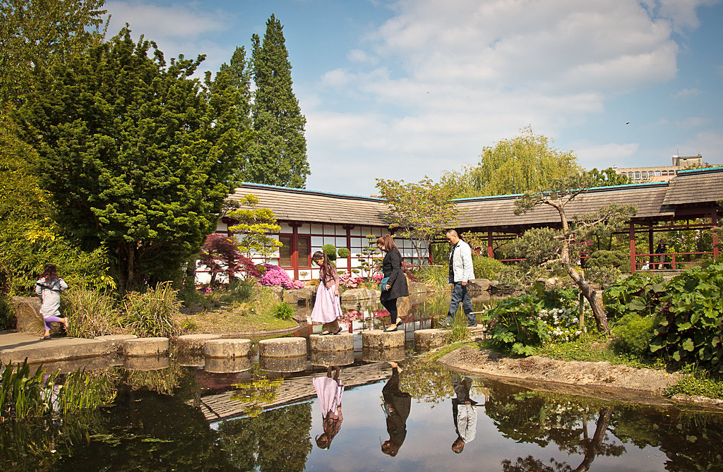 Le jardin japonais de l'Île de Versailles (c) Christopher Guillou