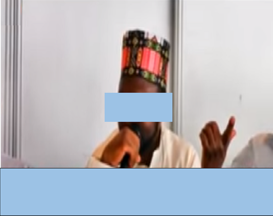 Le prédicateur en sermon/Capture d'écran Youtube