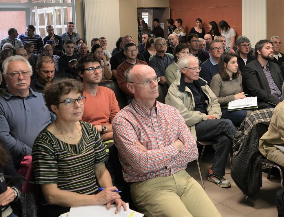 DE nombreux agriculteurs venus assister à l'Assemblée Générale (c) Frédérique Gelas