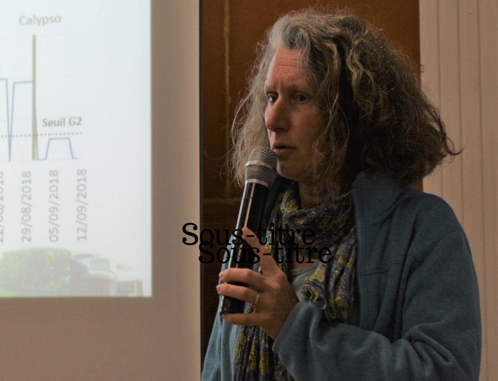 Agnès Verhaeghe, responsable technique de la station est revenue sur l'activité 2018 du Carpocapse (c) Frédérique Gelas