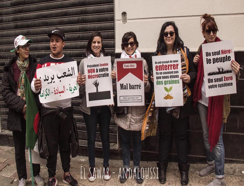 Les manifestants appellent toujours à la démission d'Abdelkader Bensalah, chef de l'État par intérim (C) Andaloussi Mohamed