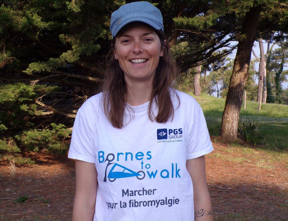 Violette Duval réalise un tour d'Europe à pied afin de faire connaître la fibromyalgie, maladie dont elle souffre. (c) Michel Poilvé.