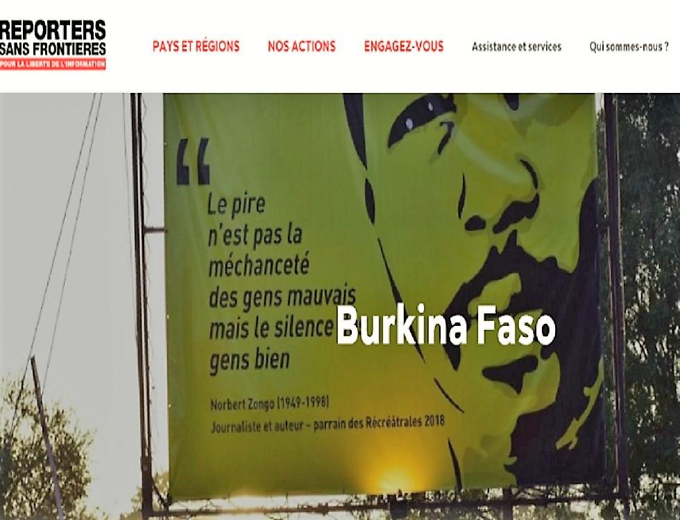 """""""le Burkina Faso se classe parmi les réussites du continent africain en matière de liberté de la presse""""(c) droitlibre.tv"""