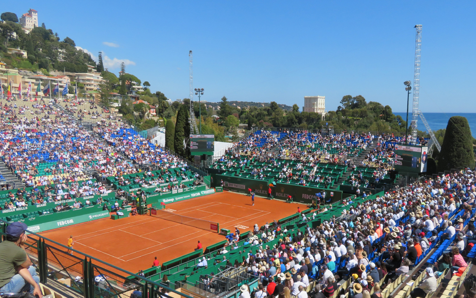 Monte-Carlo counrty club. Court central (Rainier III). Photo (c) Serge Gloumeaud