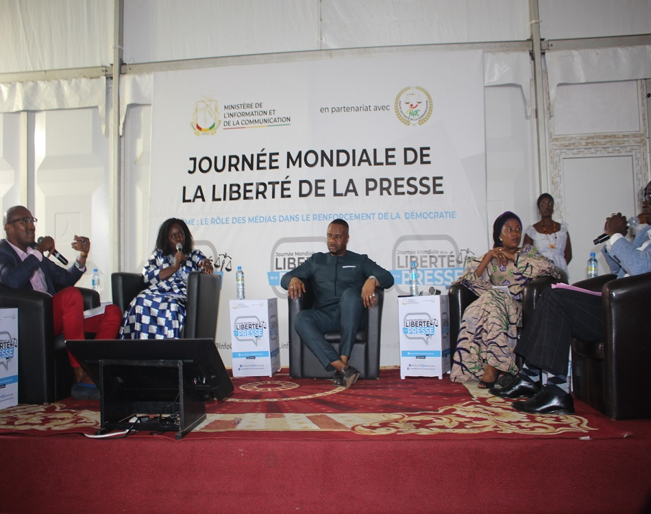 Célébration de la journée mondiale de la liberté de la presse à Conakry. (c) Boubacar Barry