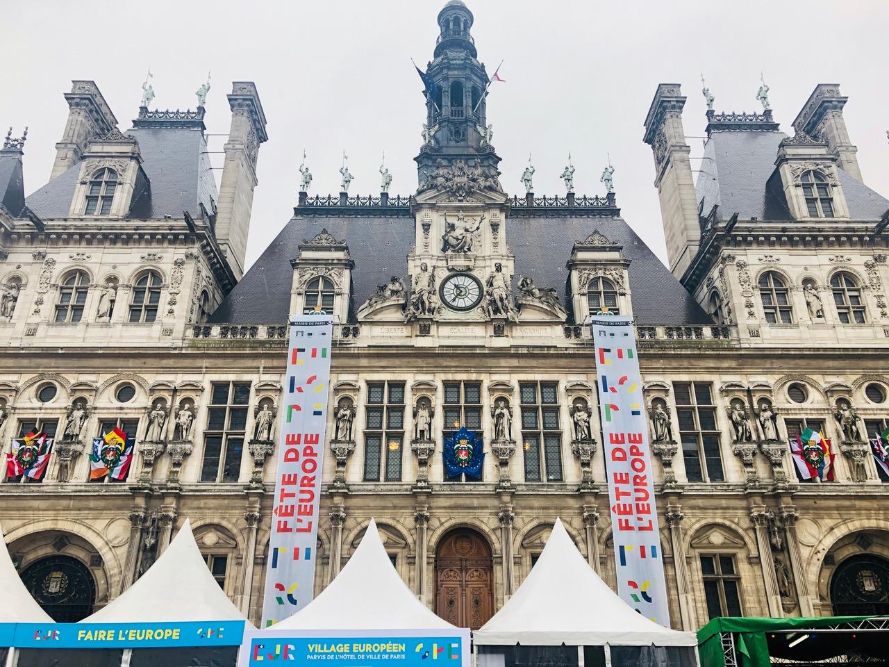 L'Hôtel de ville de Paris pour la fête de l'Europe (c)Ngh