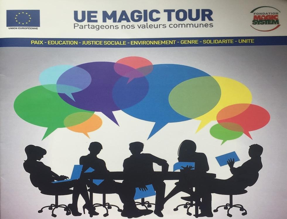 support de présentation du EU Magic Tour à la jeunesse (c) Laurence Marianne-Melgard