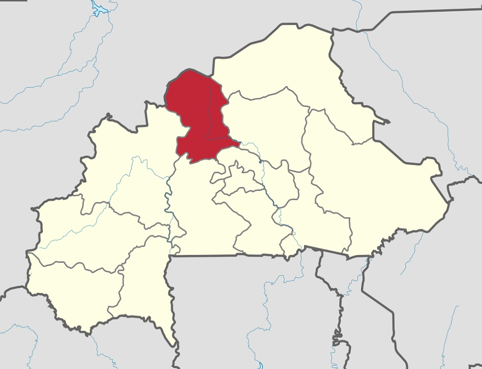 La région du Nord (zone rouge ) au Burkina. (c) Wikipedia