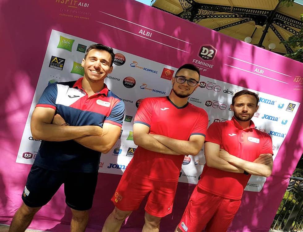 Samuel Fau, Arnaud Azam et Romain Brunot, encadrants de la journée (c) ASPTT Albi