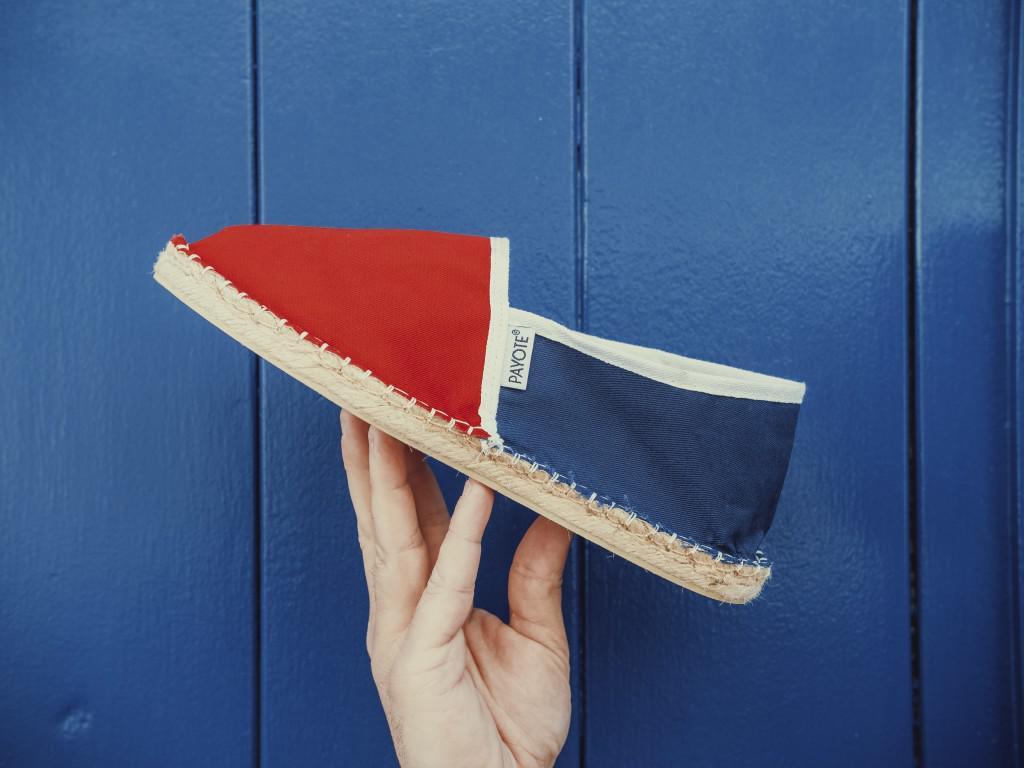 """L'espadrille bicolore """"francis"""", l'un des modèles de la marque d'Olivier Gelly (c) Payote"""