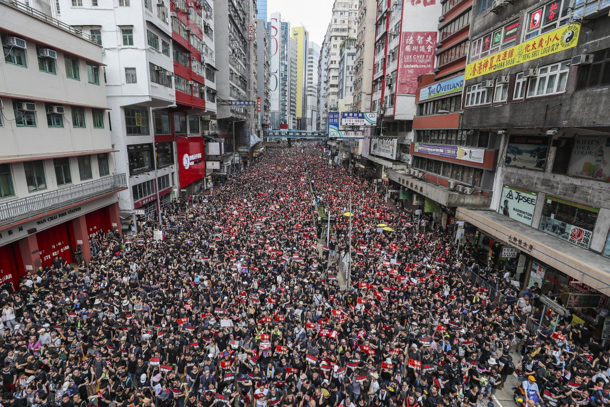 Deux millions de personnes dans les rues de Hong Kong le dimanche 16 juin 2019 (c) Sam Tsang/SCMP