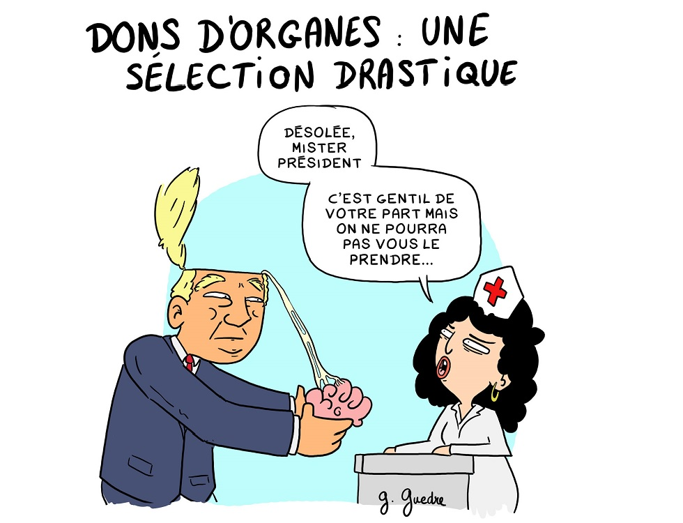 Le 22 juin, parlons du don d'organes ! Illustration (c) Guillaume Guedre.