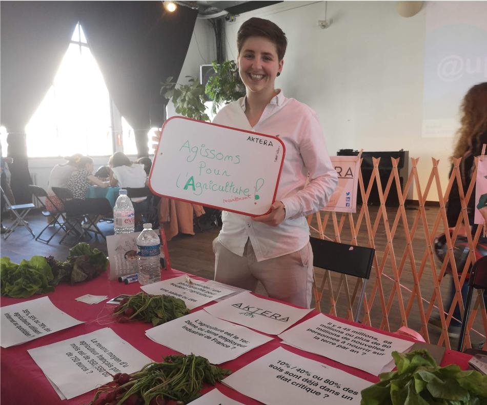 Quizz de sensibilisation aux thématiques agricoles avec la startup Aktera / (c) E.V.