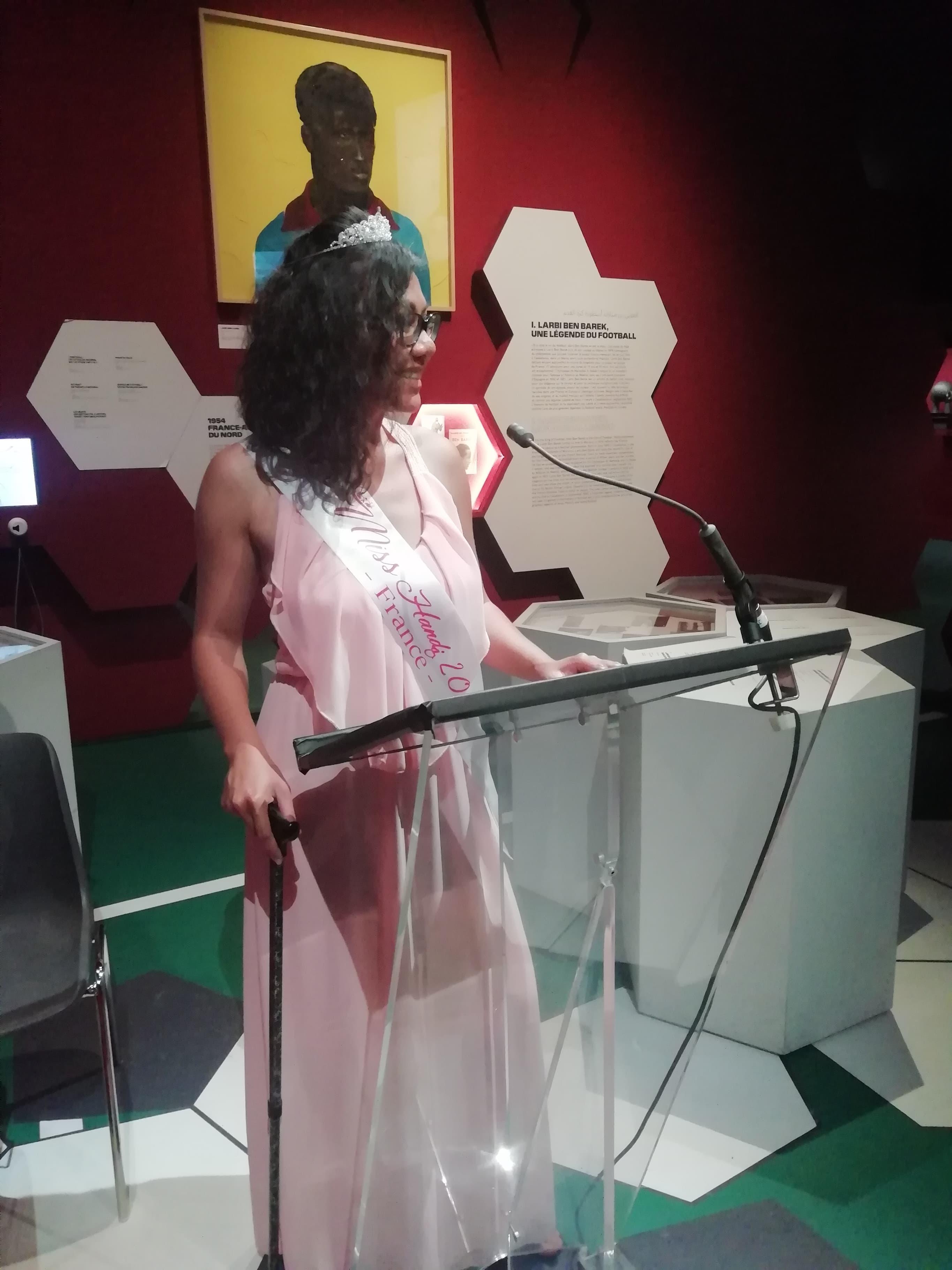 Monique Cugnot lors de sa conférence de presse avec Gislain Boungou-Boko à l'institut du monde arabe à Paris (c) Monique Cugnot