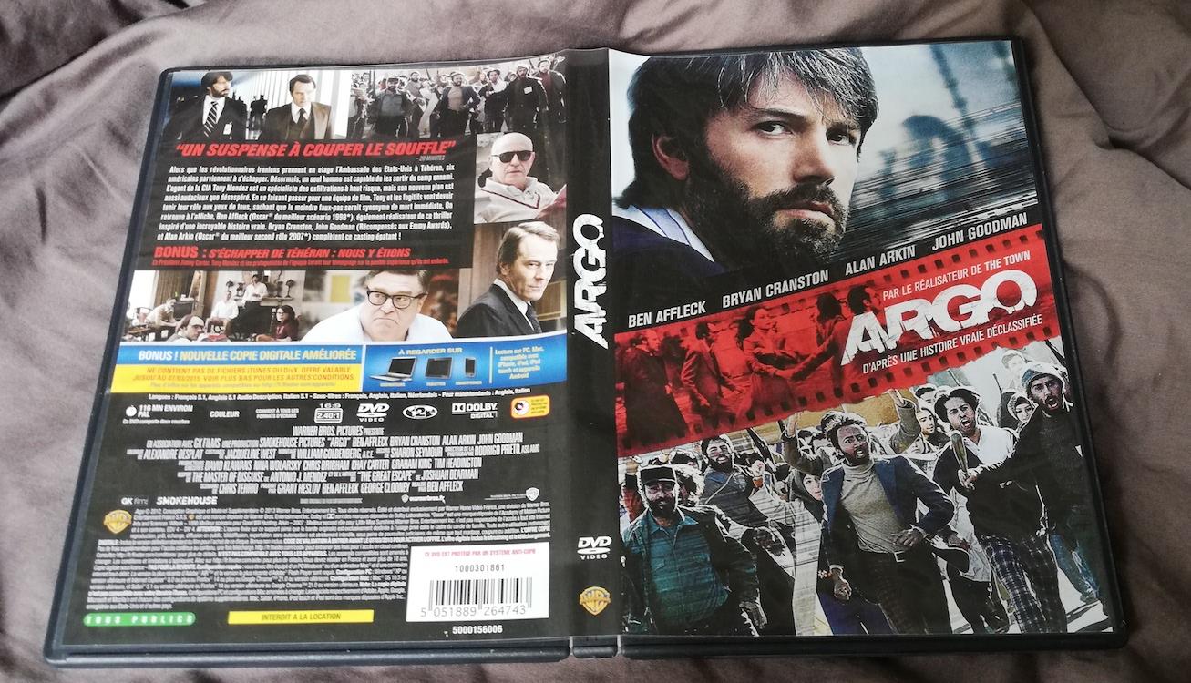 Argo, la jaquette du film. Photo(c) Isabelle Lépine