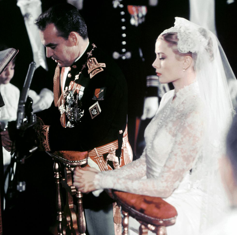 Moins d'un an après leur première rencontre, le 19 avril 1956, le mariage est célébré dans la cathédrale de Monaco. Photo (c) Wikimedia Commons