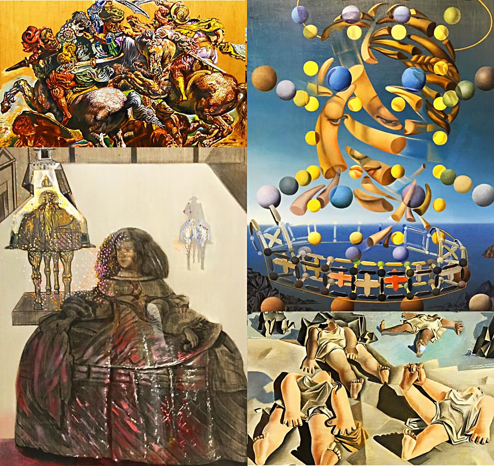 L'influence des grands maîtres faisant référence directe avec ces tableaux à Vermer, Raphaël, Picasso et Velasquez. Photos montage (c) Charlotte Longépé.