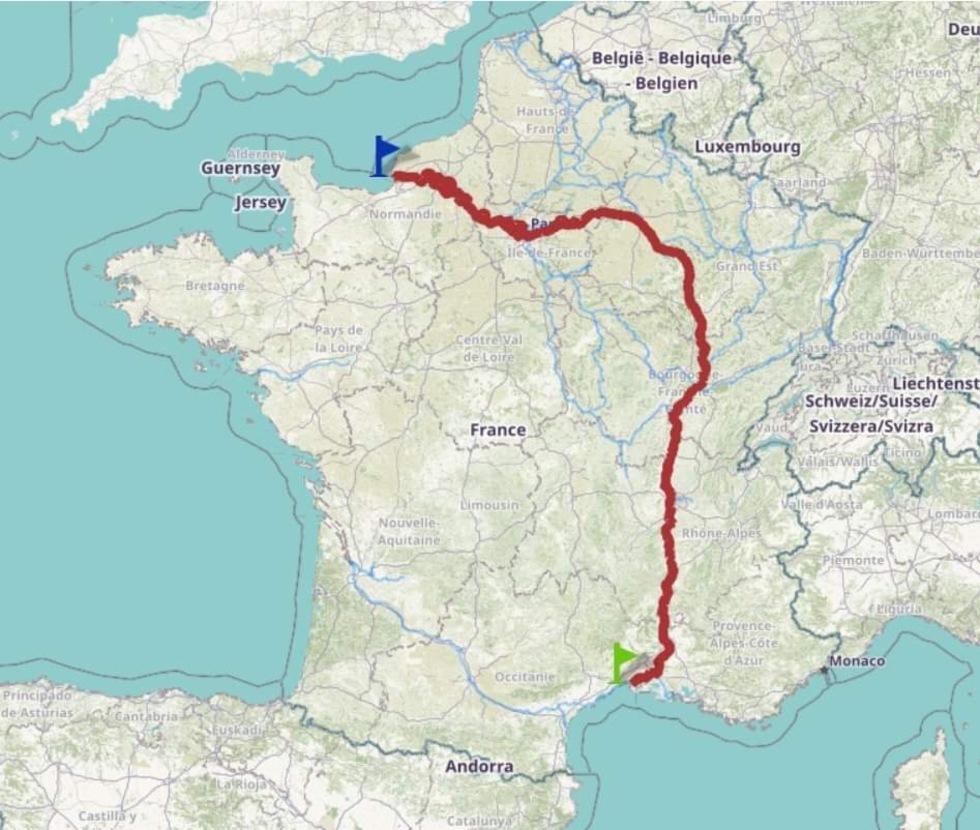L'itinéraire Le Havre - Le Grau-du-Roi © Voies navigables de France