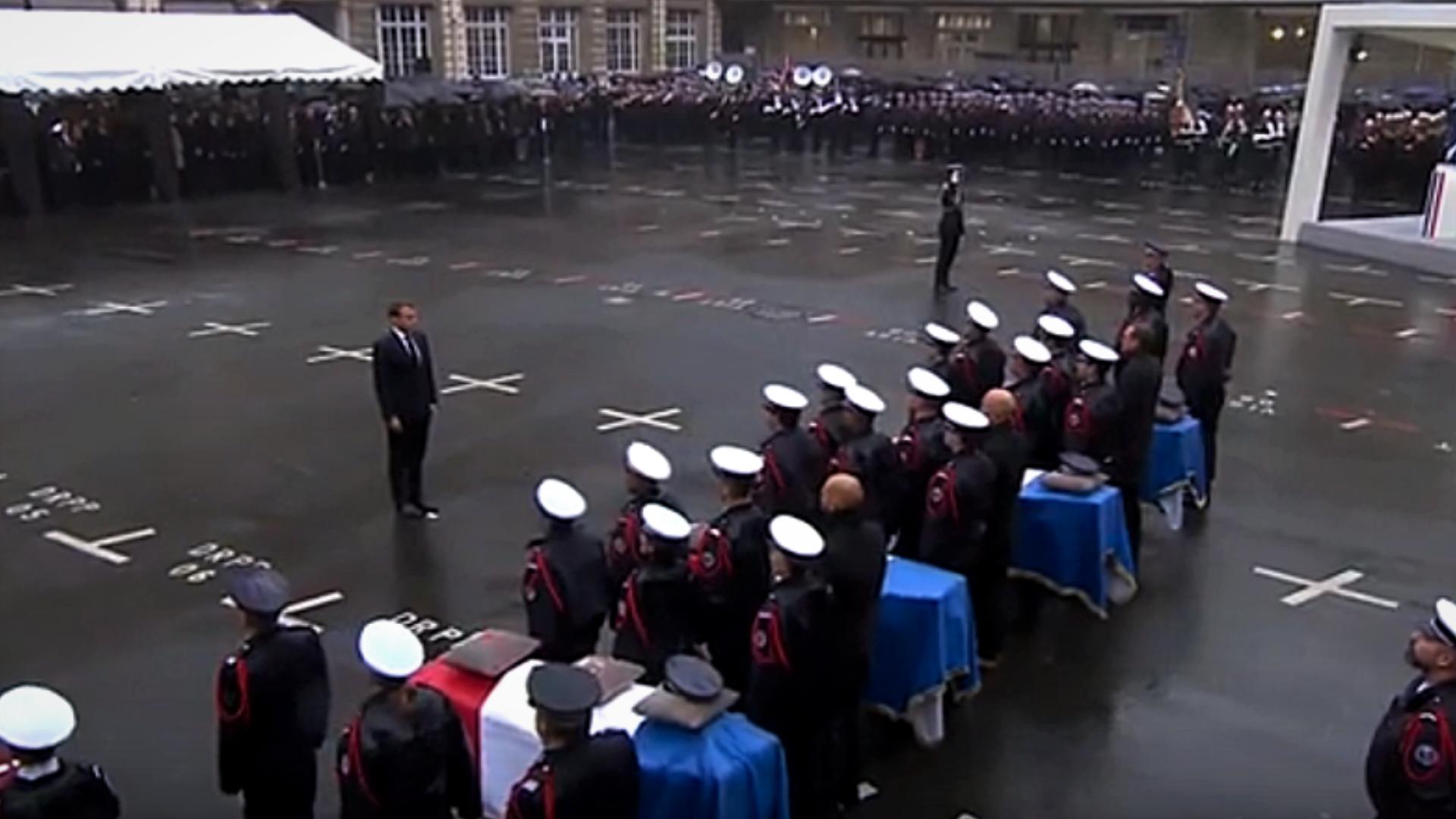 Cérémonie nationale d'hommage aux victimes de l'attaque du 3 octobre 2019 à la Préfecture de Police de Paris © Nathalie Khâ