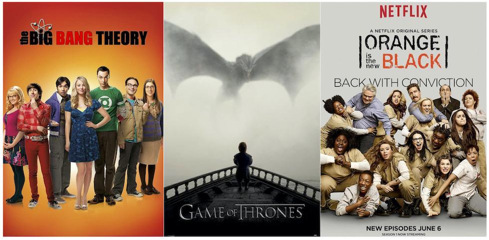 Fin de séries. Images : Affiches officielles des trois séries.