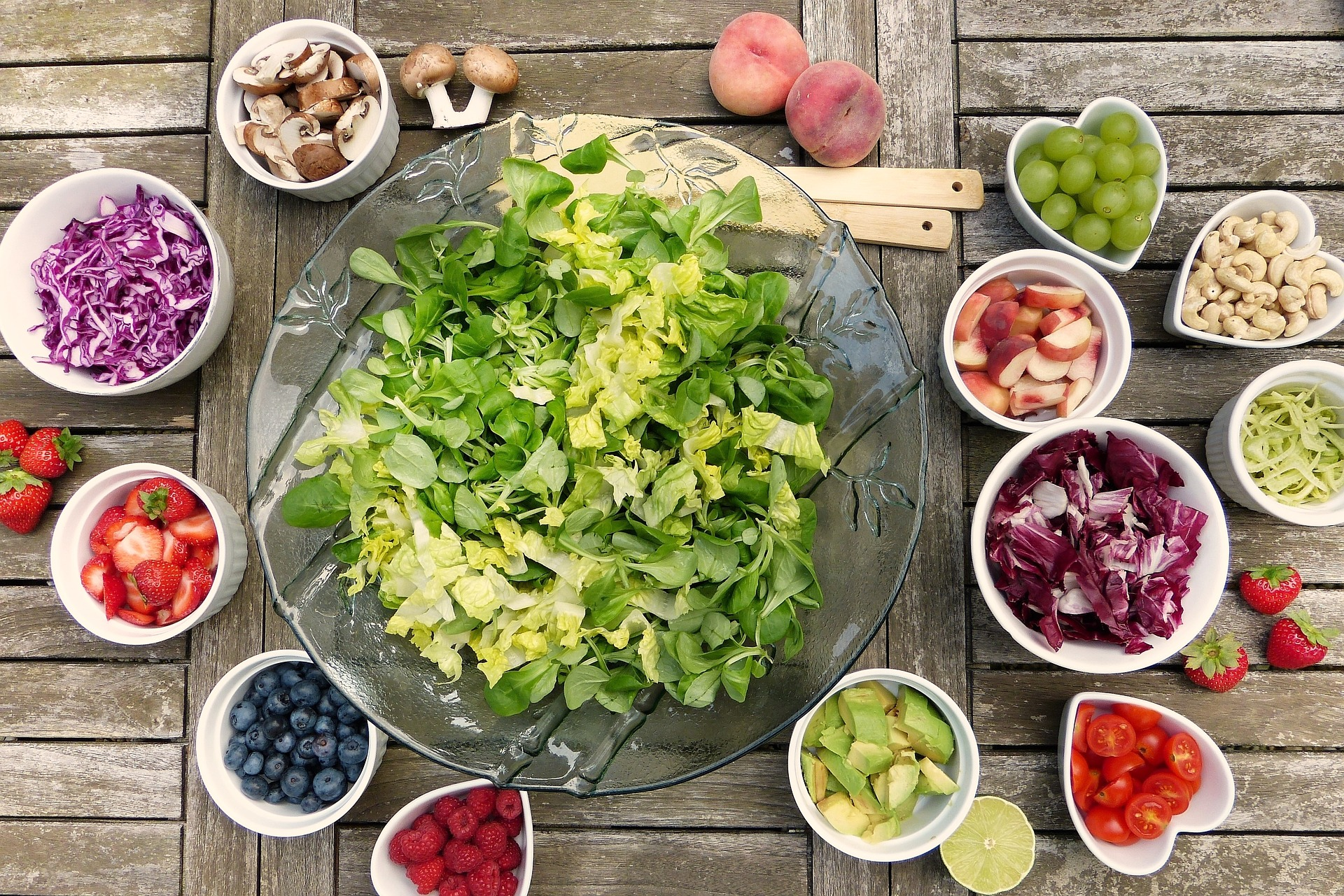 Les cinq fruits et légumes conseillés par le PNNS (c) Silviarita, Pixabay