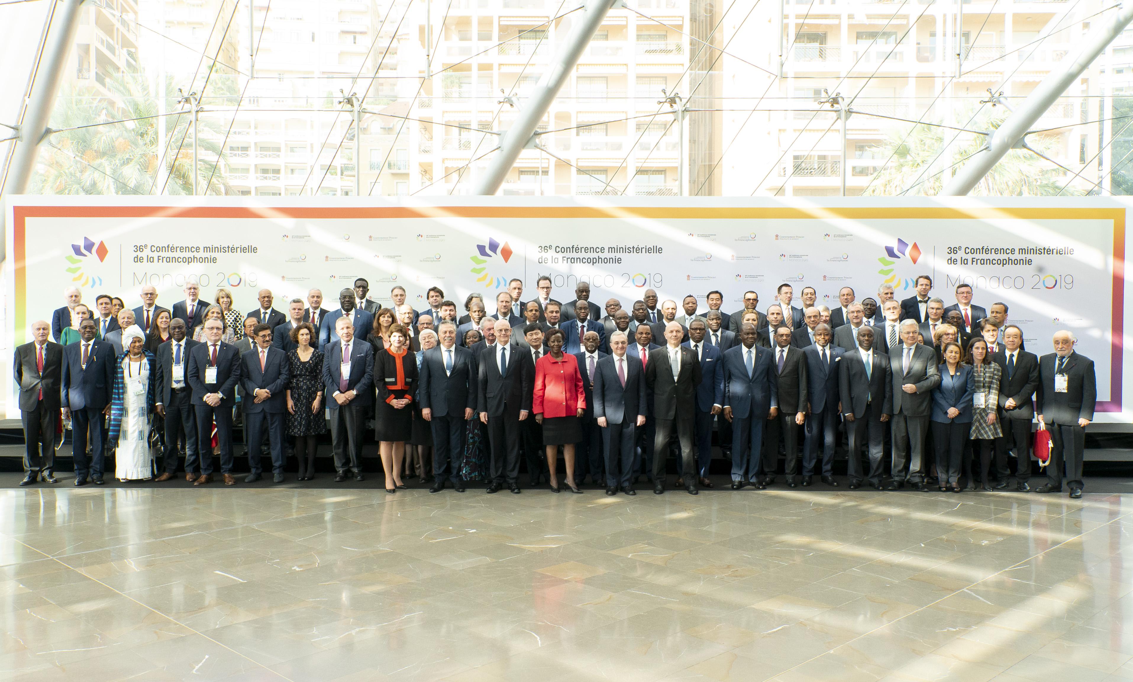 Photo crédit: Antoine Jamonneau. Photo de famille après l'ouverture de la Conference ministérielle.