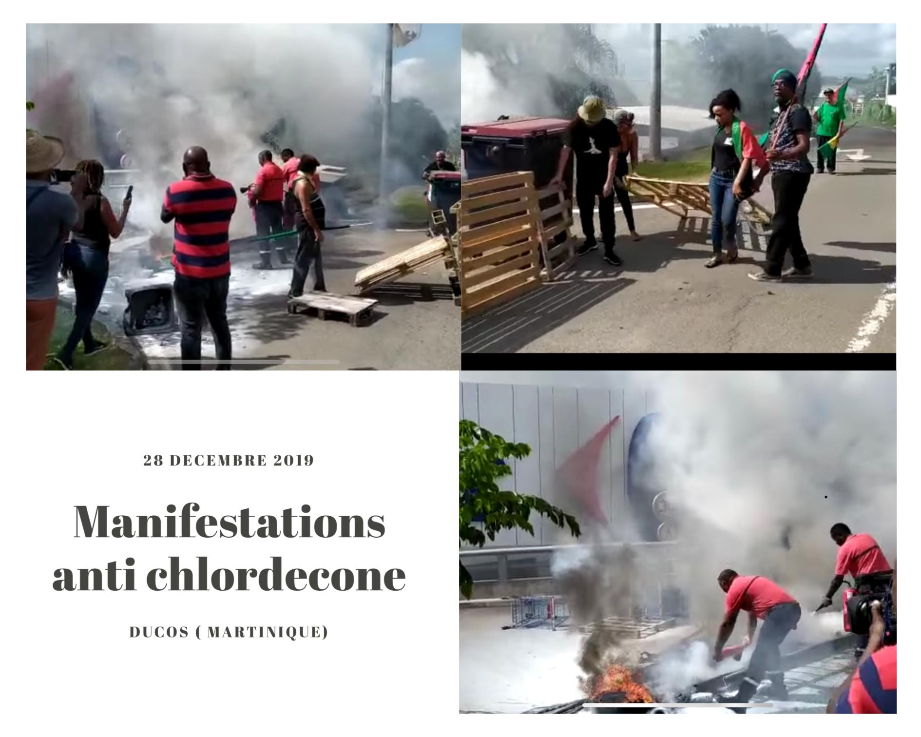 Carrefour Genipa situé dans le sud de la Martinique, était la cible des militants anti chlordécone. (c) Capture d'écran Facebook.