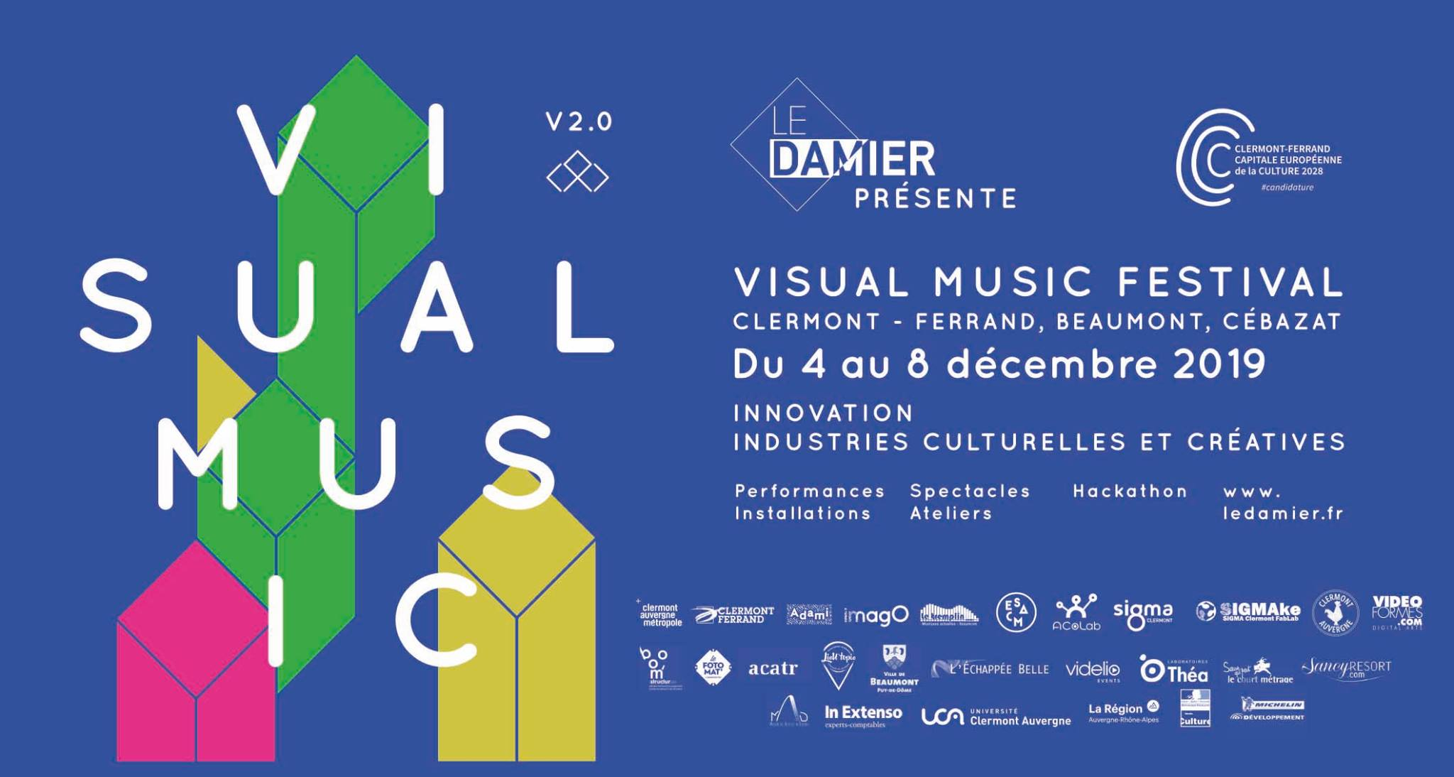 Affiche du Visual Music 2019 © Le Damier