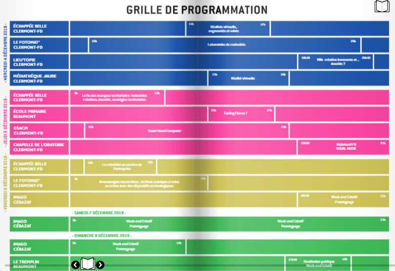 Programmation du Visual Music 2019 © Le Damier