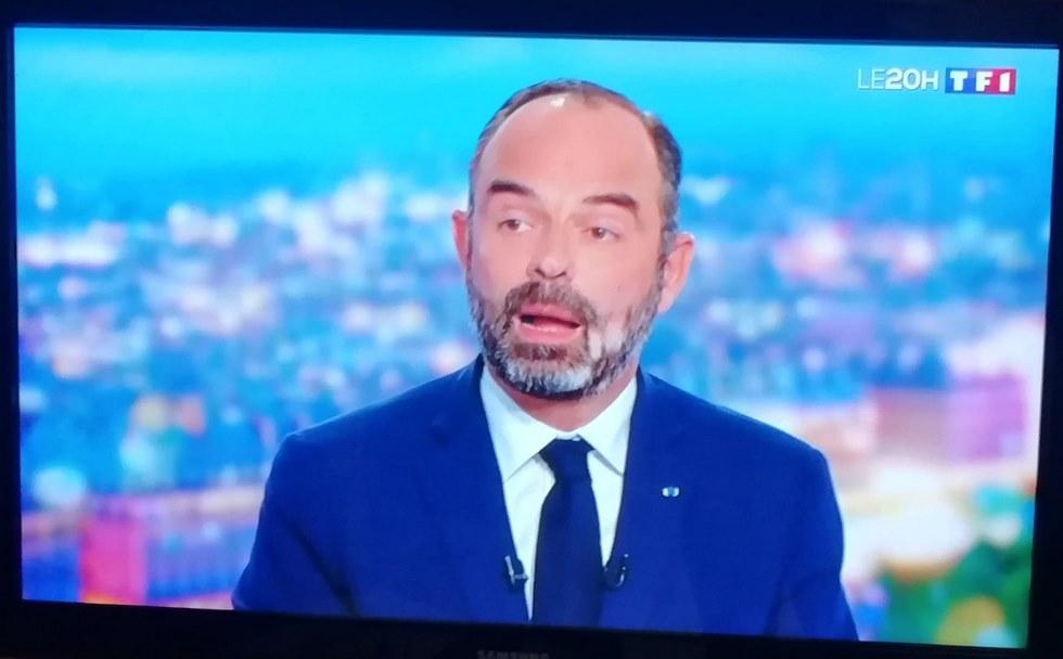 Edouard Philippe, Premier ministre était l'invité du JT de 20h de TF1 le mercredi 11 décembre © M. Cugnot