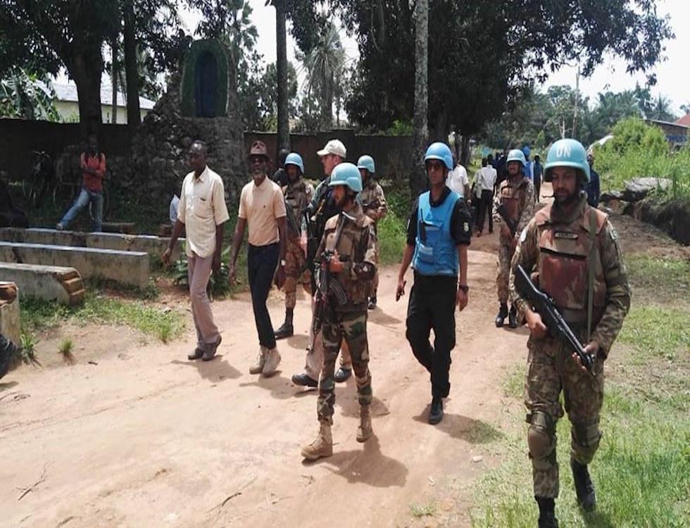 Membres de l'ONU en RDC pour évaluer la situation sécuritaire et humanitaire, nov 2018 © Monusco Photos
