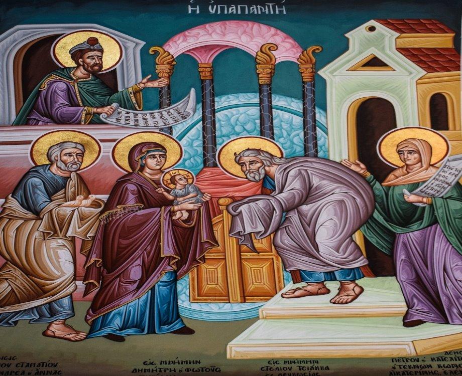 Peinture sur la présentation du Christ au temple (c) Dimitris Vetsikas/pixabay