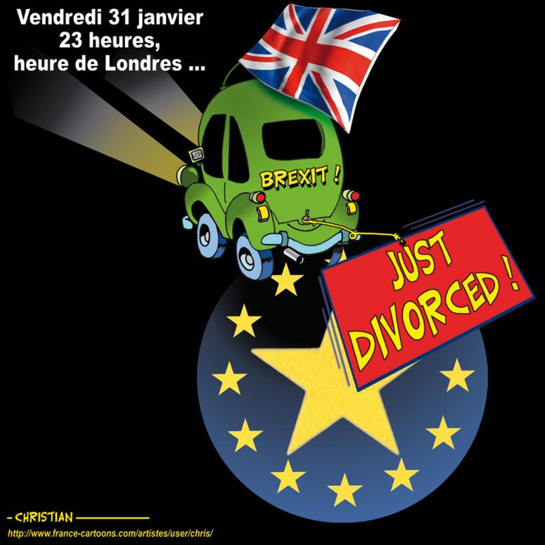 Vendredi 31 janvier 2020, après 3 ans de longues et âpres négociations, le Royaume-Uni quitte officiellement l'Union européenne. (c) Christian Larivière