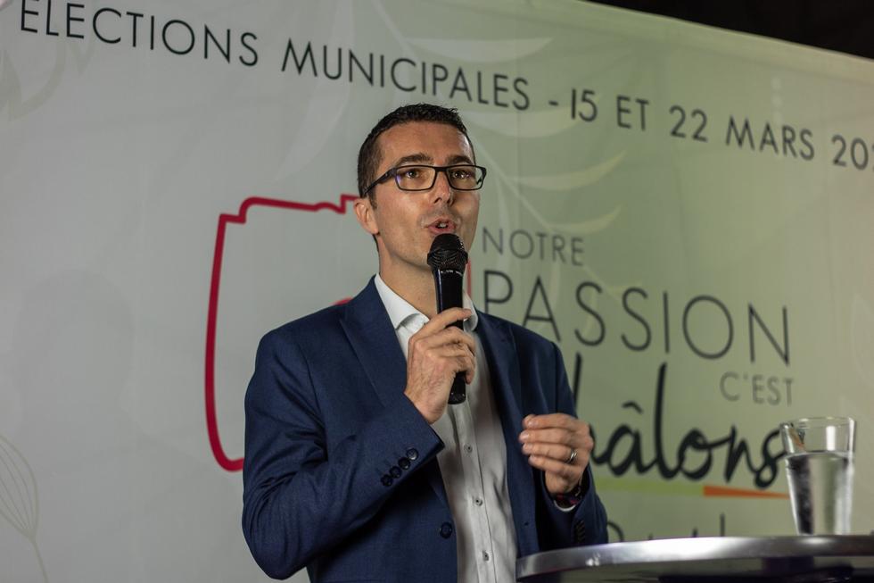 """Avec sa liste """"Notre passion c'est Châlons"""", Rudy Namur est sur tous les fronts © Notre passion c'est Châlons"""