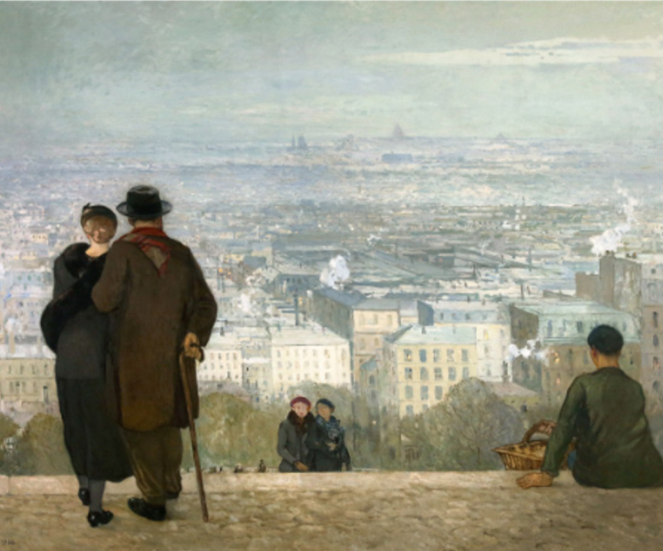 Paris vu du Sacré-Cœur, 1936 Huile sur toile Dole, musée des Beaux-Arts, dépôt du Centre national des Arts plastiques, Paris Photo Henri Bertrand © ADAGP, Paris 2019