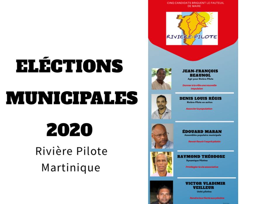 Cinq candidats briguent le fauteuil de maire, dont quatre issus du MIM (Mouvement Indépendantiste Martiniquais). (c) Nouria Anseur.