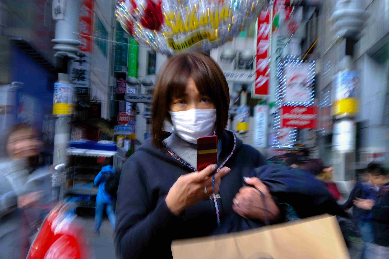 Malgré le port du masque, ancré dans les coutumes japonaises, le nombre de cas de COVID-19 augmente. ©Florent Guérout