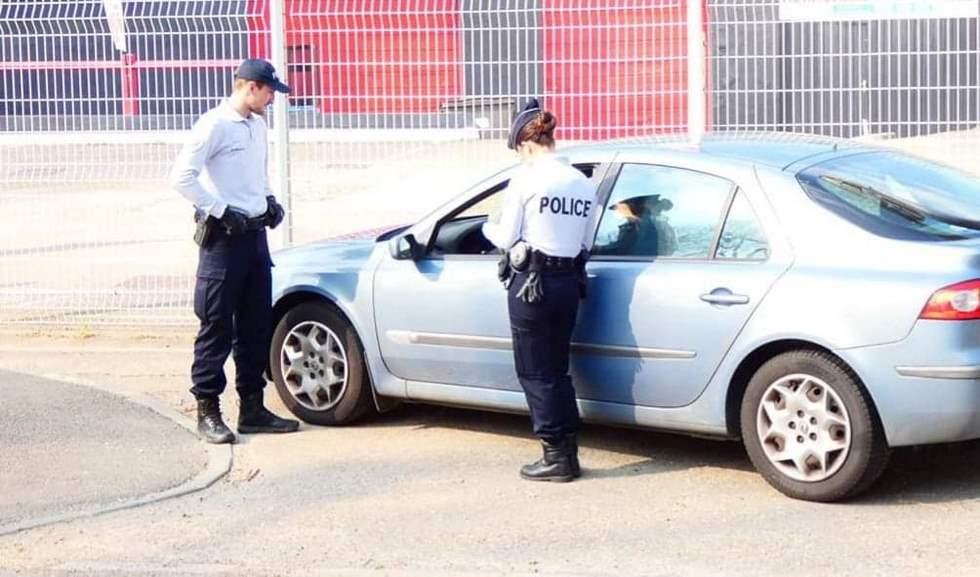 La Police est en plein contrôle routier © Photo page Facebook Police nationale de l'Eure