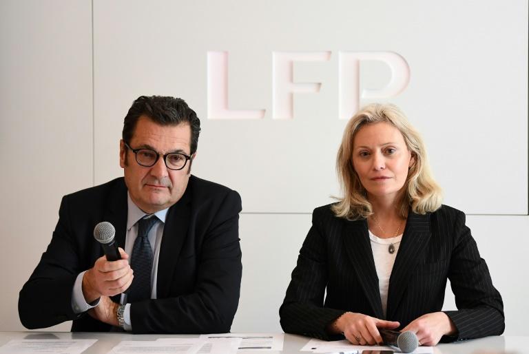 Même si un vote est prévue en Assemblée Générale,le 20 mai prochain, la présidente de la LFP, Nathalie Boy de la Tour, indique que les décisions « sont actées et solides (et que) le Conseil d'Administration fait foi ». (c) AFP Franck FIFE