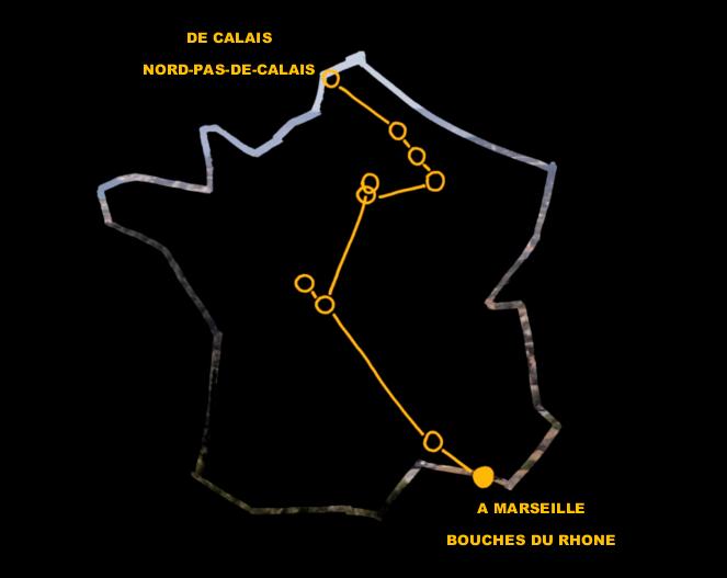 """Tout commence au Nord. Puis on plonge """"au centre de la France comme on se risquerait au bord de la mer"""" avant de rejoindre le Sud où """"il y a tant d'éclat et de rire et de joie et où tout retombera à l'eau"""". (c) Capture d'écran Demainlefeu.fr"""