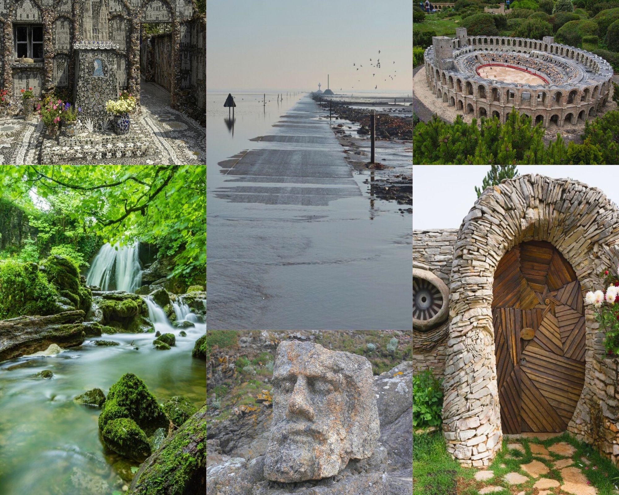 Il existe différents lieux insolites à visiter sur le territoire français / Montage (c) Pascale Luissint