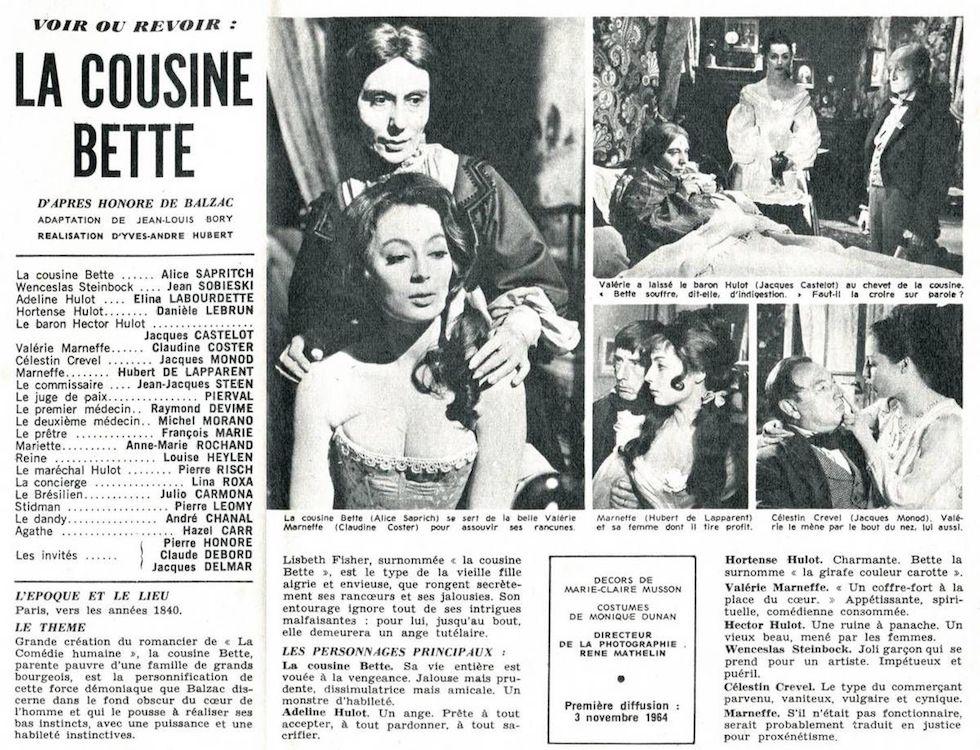Articles de presse sur le film adapté de La Cousine Bette (C) nourmzn.wordpress