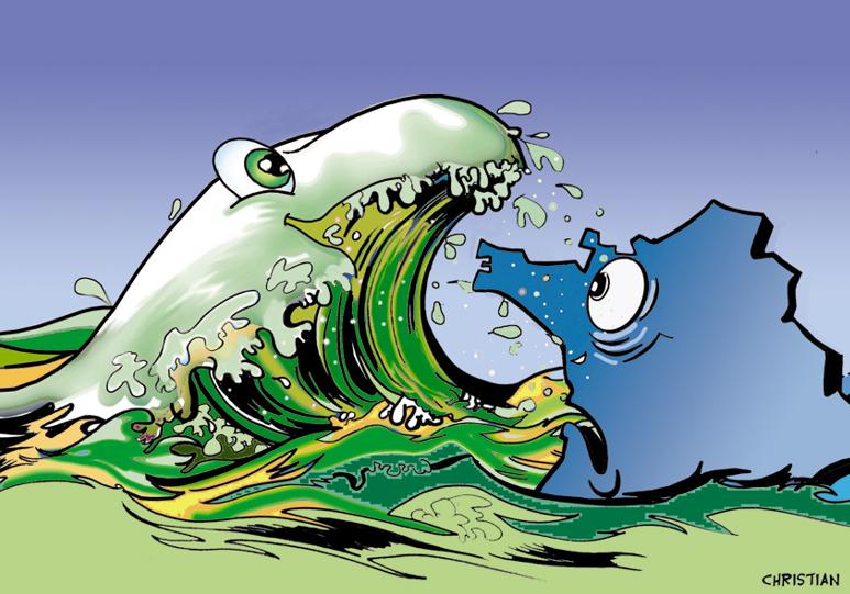 """La vague verte va-t-elle engloutir """"l'ancien monde""""? (c) C. Larivière"""
