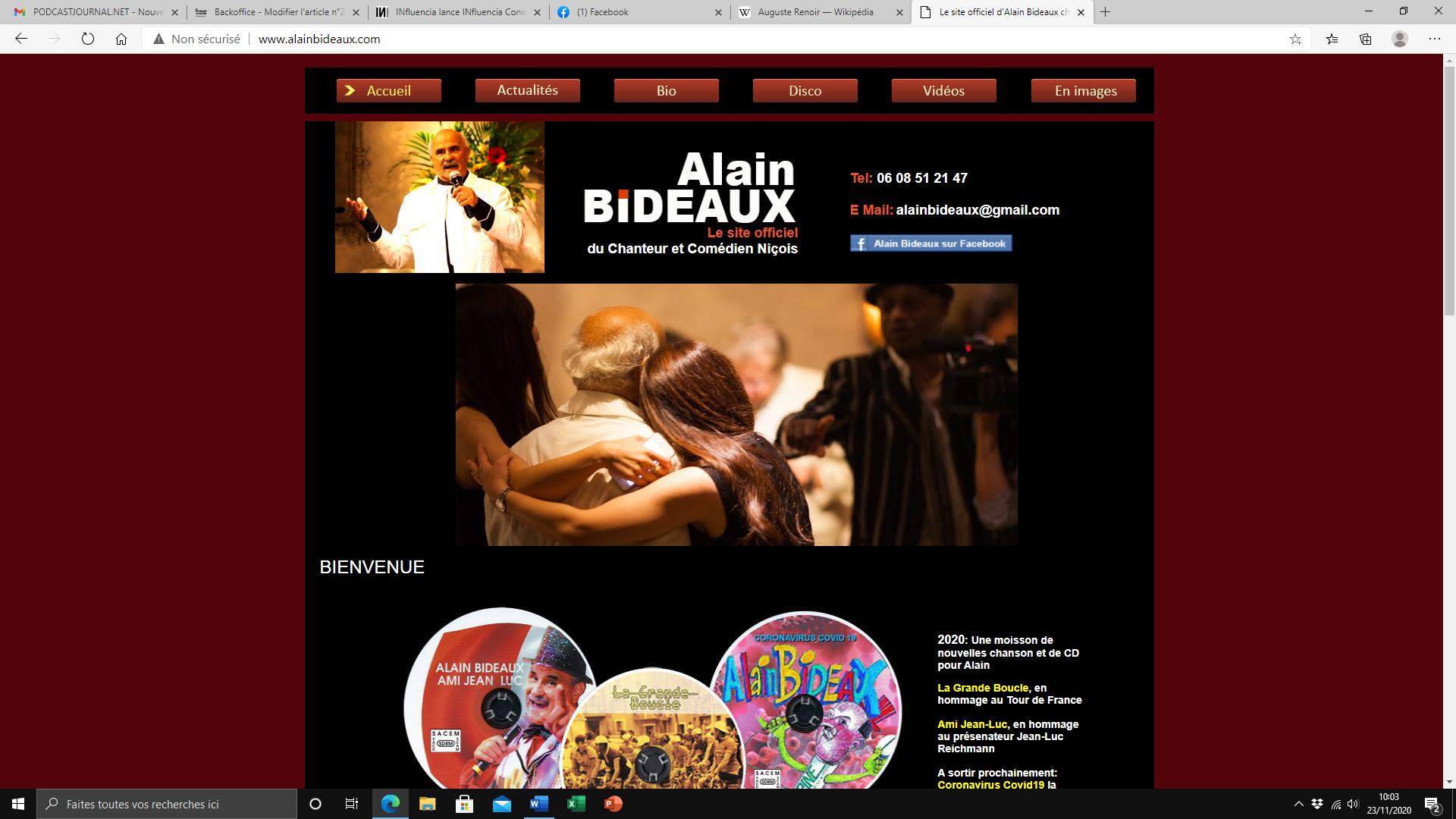 l'auteur chanteur et compositeur de variétés françaises Alain Bideaux (c) DR