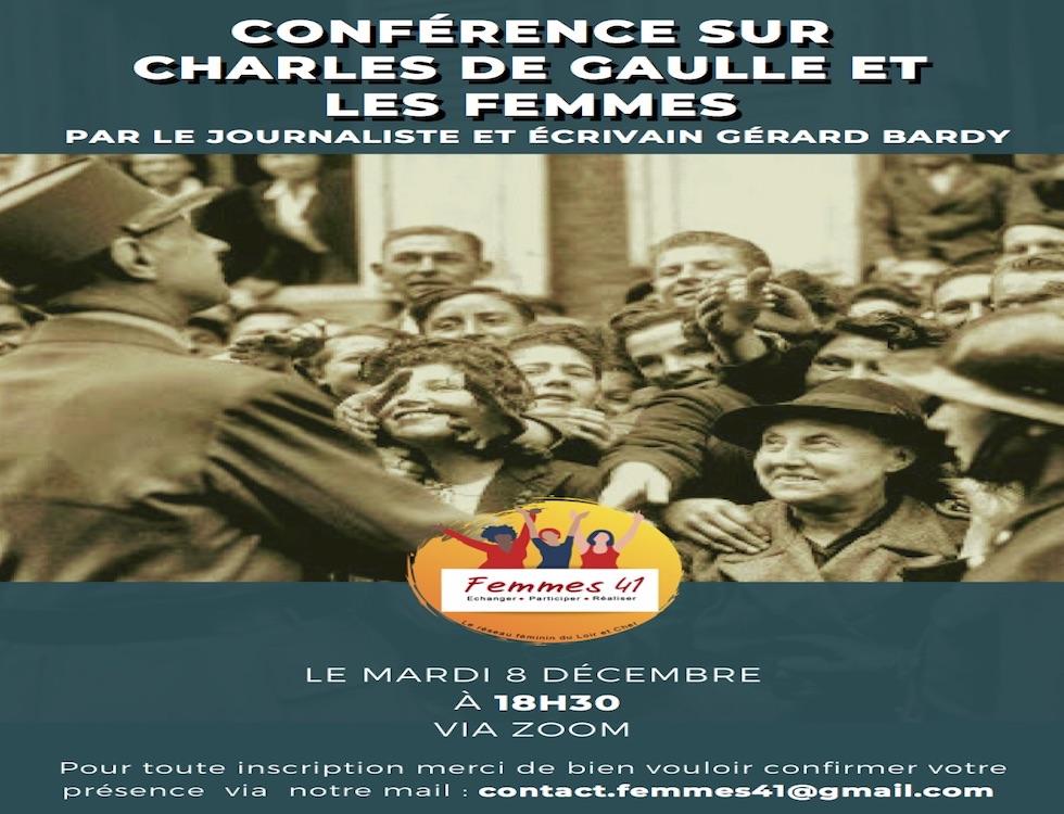 Conférence sur Charles de Gaulle et les femmes  (C) www.femmes41.com